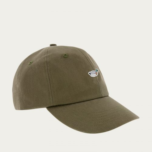 Mens Edmmond Studios Duck Cap in Khaki with Embroidery