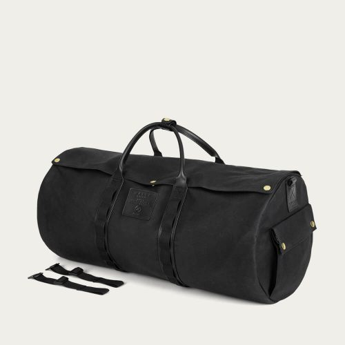 Mens Malle London Moto Duffel Bag in Black