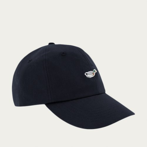 Mens Edmmond Studios Duck Cap in Navy with Embroidery
