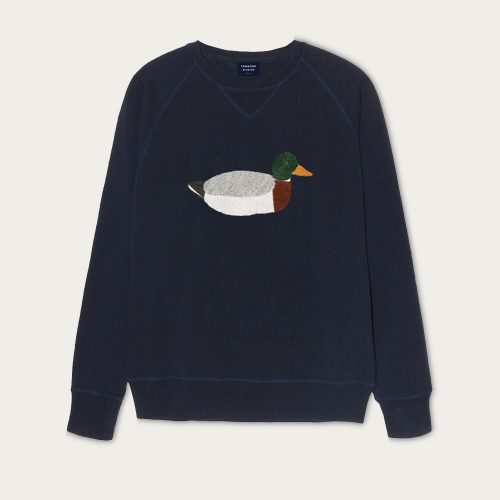 Mens Edmmond Studios Duck Hunt Sweatshirt in Navy