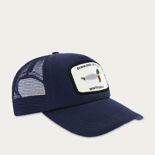 Mens Edmmond Studios Montecarlo Trucker Cap in Navy