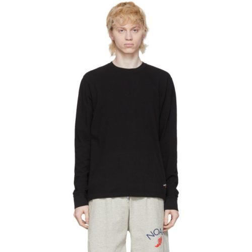 MensNoah NYCRecycled Cotton Long Sleeve T-Shirt in Black