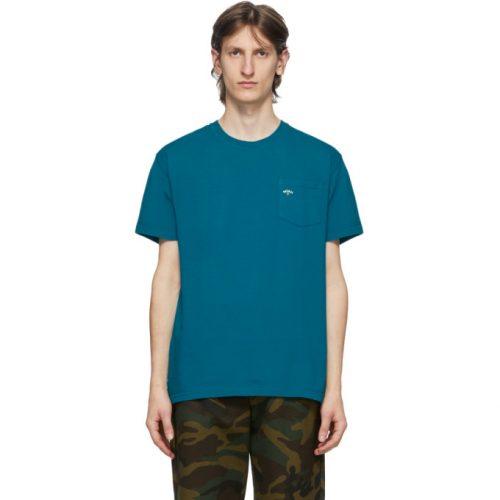 MensNoah NYC Logo Pocket T-Shirt in Blue