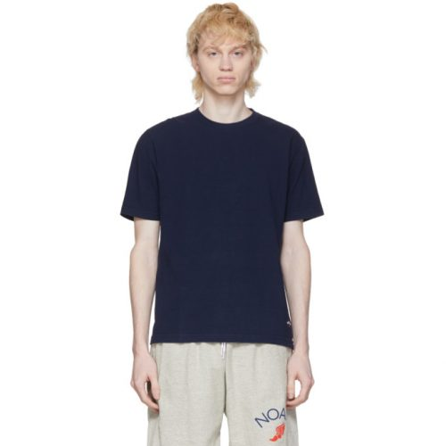 MensNoah NYC Recycled Cotton T-Shirt in Navy
