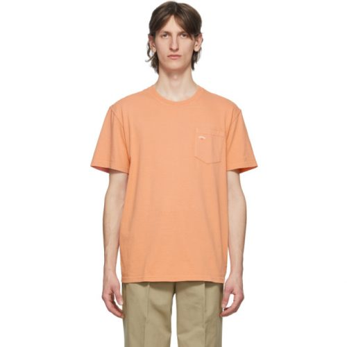 MensNoah NYC Logo Pocket T-Shirt in Orange