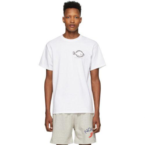 MensNoah NYC Flounder Shop T-Shirt in White