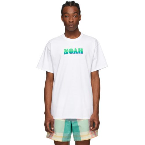MensNoah NYC Gradient Logo T-Shirt in White