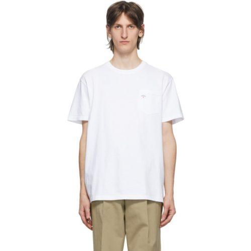 MensNoah NYC Logo Pocket T-Shirt in White