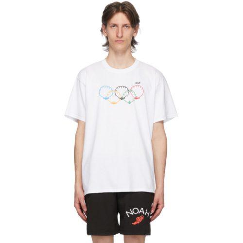MensNoah NYC Scallops T-Shirt in White