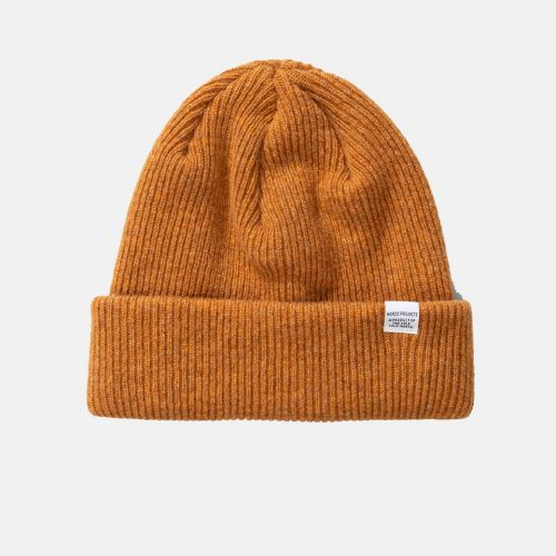 Mens Norse Projects Norse Beanie Hat in Montpellier Yellow