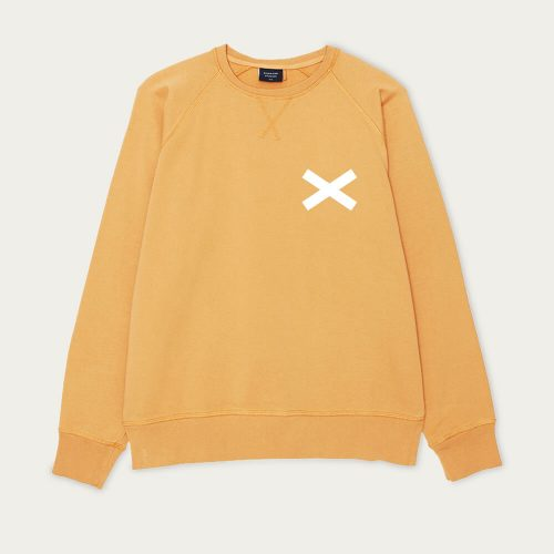 Mens Edmmond Studios Cross Sweatshirt in Orange