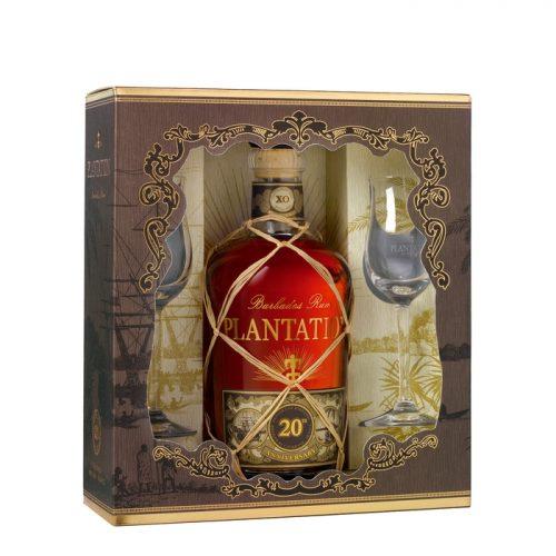 MensPlantation XO Rum And Glasses Giftset