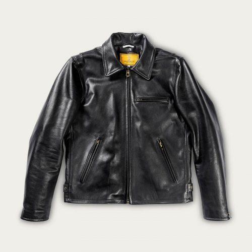 MensShangri-La Heritage Varenne Leather Jacket in Black