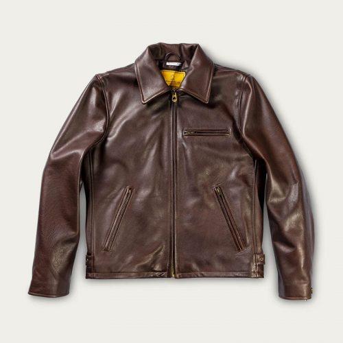 MensShangri-La Heritage Varenne Leather Jacket in Brown