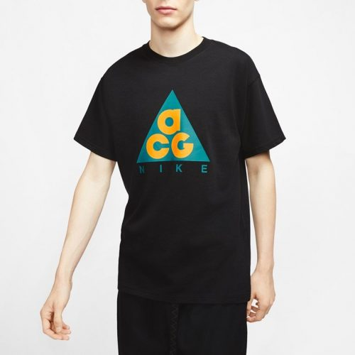 Mens Nike ACG Giant Logo T-Shirt in Black