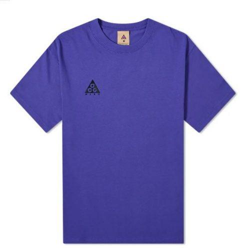 MensNike ACG Logo T-Shirt in Purple