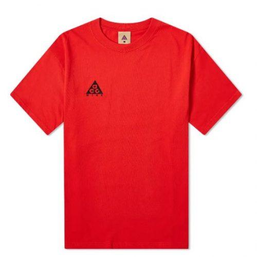 MensNike ACG Logo T-Shirt in Red