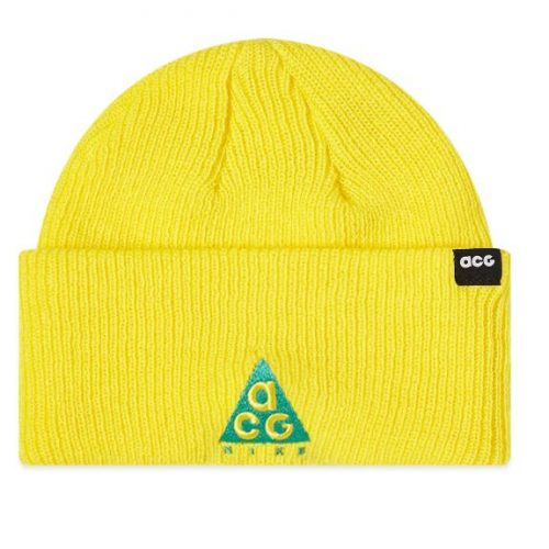 Mens Nike ACG Small Logo Beanie in Yellow