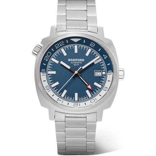 Mens Bamford Watch Department GMT Automatic Stainless Steel Watch in Blue