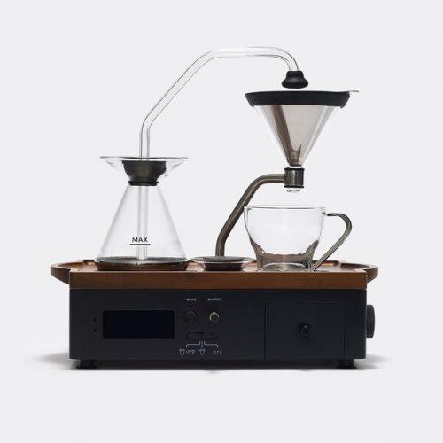 Mens Barisieur Alarm Clock + Tea And Coffee Maker in Black