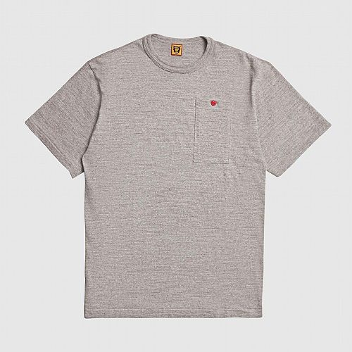 Mens Human Made Heat Pocket T-Shirt in Grey