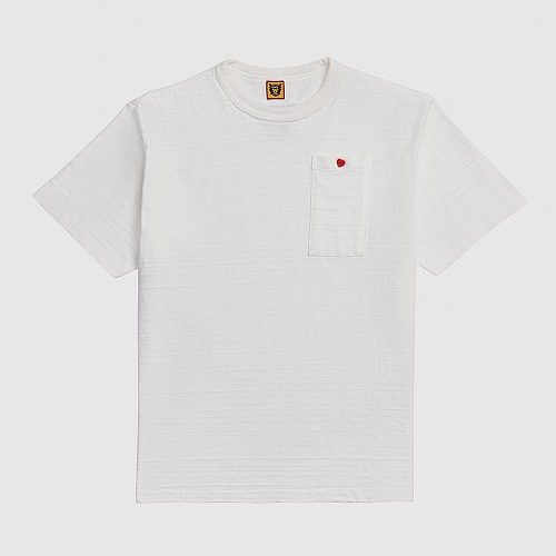 Mens Human Made Heart Pocket T-Shirt in White