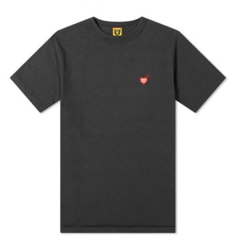 Mens Human Made Heart One Point T-Shirt in Black