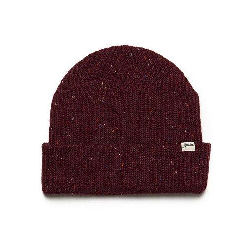 Mens Katin Basic Beanie Hat in Dark Red Marl