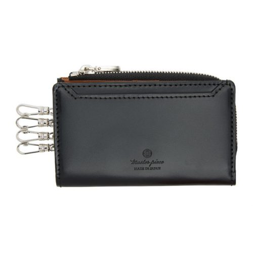 Mens Master-Piece Notch Key Case in Black