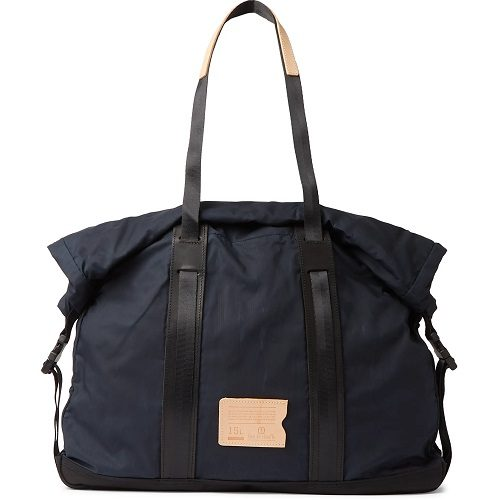 Mens Bleu de Chauffe Barda Waxed Cotton Tote Bag in Blue