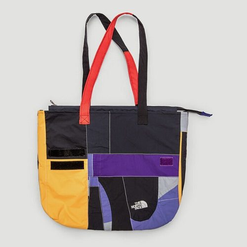 Mens Greater Goods Upcycled Tote Bag in Yellow Multi