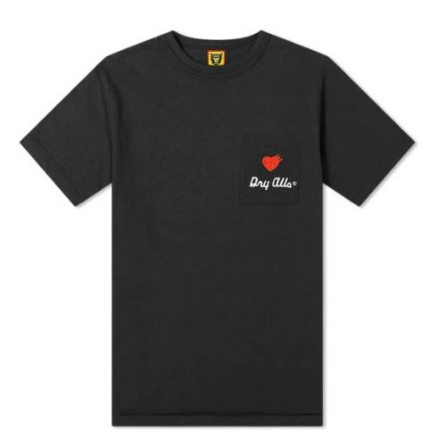 Mens Human Made Flag Logo Pocket T-Shirt in Black