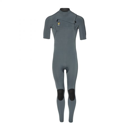Mens Vissla 7 Seas 2mm Short Sleeve Wetsuit in Charcoal