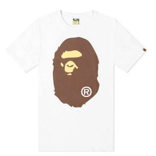 Mens A Bathing Ape Big Ape Head T-Shirt in White