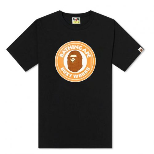 Mens A Bathing Ape BOA Colorful Busy Works T-Shirt in Black