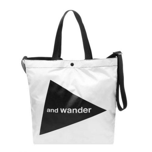 MensAnd Wander Cordura Big Logo Tote Bag in White