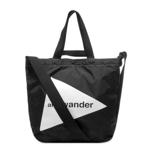 MensAnd Wander Cordura Big Logo Tote Bag in Black