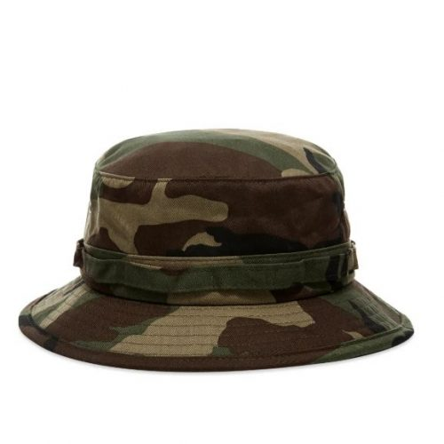 MensBeams Plus Bucket Hat in Jungle Camo Woodland Green