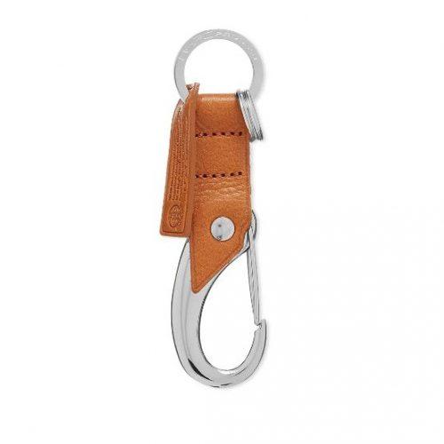 MensMaster-Piece Oil Leather Keyring in Camel Brown