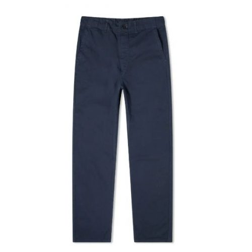 Mens orSlow French Work Pants in Navy