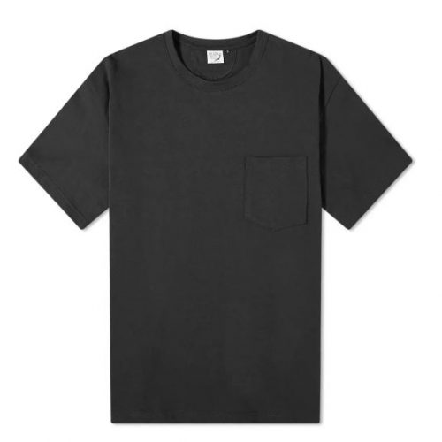 Mens orSlow Cotton-Jersey Pocket T-Shirt in Black