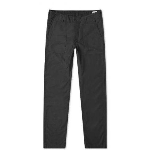 Mens orSlow Slim Fit Fatigue Pant in Black Stone