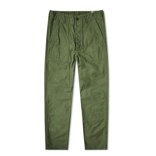 Mens orSlow US Army Fatigue Pant in Green