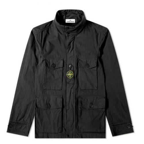 MensStone Island Cordura Field Jacket in Black